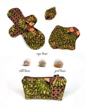 pack Eole SHL labia protège-culotte tampon pochette